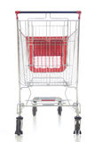 achats rouges de grand chariot Photographie stock libre de droits