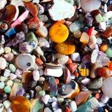Achatstein mit vielen bunter Mineralquarz Stockfotos