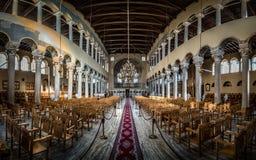 Acheiropoietos inre panorama, bysantinsk kyrka för 5th-århundrade Arkivfoto