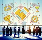 Acheivement Success Teamwork Partnership Concept.  Stock Image