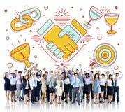 Acheivement Success Teamwork Partnership Concept Stock Image