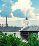 Achemafabriek in Jonava, Litouwen Stock Fotografie