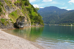 Achen Lake (Achensee) and the hiking path Stock Photo