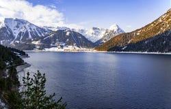 Achensee湖在奥地利阿尔卑斯 免版税库存照片