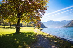 Achensee in Austria. Autumn at the lake Achensee in Austria Royalty Free Stock Image