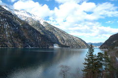 Achensee lake in Alps in Austria Royalty Free Stock Photography