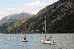 Achensee lake at tirol in Austria. Royalty Free Stock Images