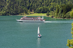 Achensee lake at tirol in Austria. Royalty Free Stock Images