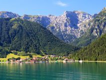 Achensee laken i Österrike Arkivfoton
