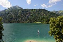 Achensee sjö på tirol i Österrike Royaltyfri Bild