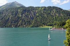 Achensee sjö på tirol i Österrike Arkivfoto