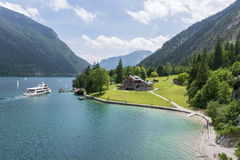 Lake Achensee Tyrol. Picture of the Achensee in Tyrol in Austria. In the Picture is the lake with the so called Gaisalm royalty free stock images