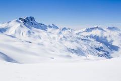 Acher-Schlossberg im Winter Stockbild