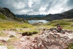Acherito lake. In Echo's Valley, Spanish Pyrenees Royalty Free Stock Photos