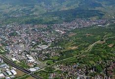 Achern Baden, von der Luft Lizenzfreie Stockfotos