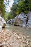 Acheron river. In the summer ,epirus region greece Stock Image