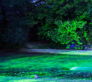 Acheror river in the night. Epirus greece green water Stock Photo