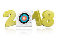 Achery Target with Arrow 2018 Design. With a white Background Stock Photo