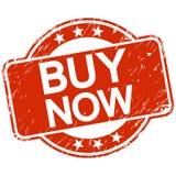 acheter maintenant de timbre rayé par rouge Photographie stock libre de droits