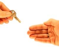 Acheteur à la maison Photo stock