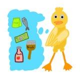 Acheteur de canard illustration libre de droits