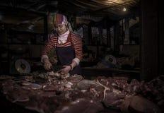 Acheteur de viande Photographie stock libre de droits