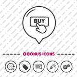 Achetez l'icône de bouton Symbole de clic Images libres de droits
