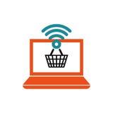 Achetez le marketing numérique en ligne Image libre de droits