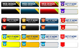 Achetez les boutons de Web illustration libre de droits