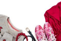 Achetez les femmes à la mode des espadrilles et des pulls molletonnés du ` s Images libres de droits