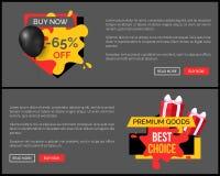 Achetez maintenant l'affiche de vente de magasin de magasin de remise de 65 pour cent illustration stock