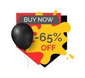Achetez maintenant la remise de 65 pour cent, icône de vente de magasin de magasin illustration de vecteur