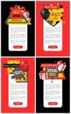 Achetez maintenant la remise de 65 pour cent, icône de vente de magasin de magasin illustration stock
