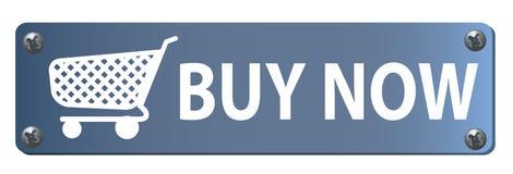 Achetez maintenant le bouton Photographie stock libre de droits
