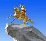 Achgabat, Turkménistan - 20 octobre 2015 Monument au président photo stock