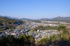 Achi Dorf, Nagano, Japan Stockbilder