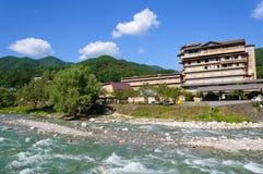 Achi Dorf in Nagano, Japan Lizenzfreies Stockbild