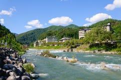 Achi Dorf in Nagano, Japan Lizenzfreie Stockbilder