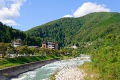 Achi Dorf in Nagano, Japan Lizenzfreie Stockfotografie