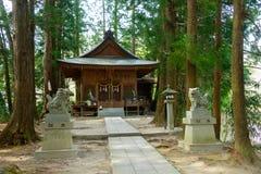 Achi-Schrein in Achi-Dorf, Nagano, Japan Stockbilder