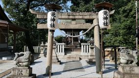 Achi shrine landscape. Achi shrine is a historic shrine , in Kurashiki city, Okayama Prefecture; Japan Stock Photography