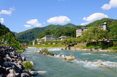 Achi village in Nagano, Japan Royalty Free Stock Images