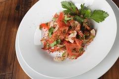 Achichuk - salada tradicional do uzbek Imagens de Stock
