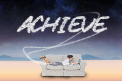 Achieve against serene landscape Royalty Free Stock Images