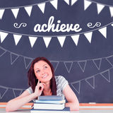 Achieve against student thinking in classroom Stock Images