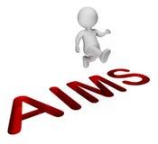 Achieve Aims Means Achievement Direction And Progress 3d Rendering Stock Image