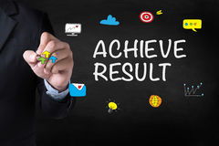 ACHIEVE RESULT Stock Photography