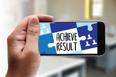 ACHIEVE RESULT , Results compass , businessman ACHIEVE RESULT , Stock Photography