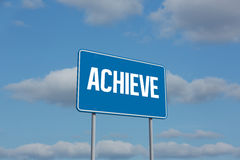 Achieve sign against sky Royalty Free Stock Photos
