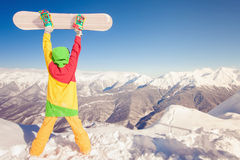 Achieve snowborder at high mountain at Swiss Royalty Free Stock Photo